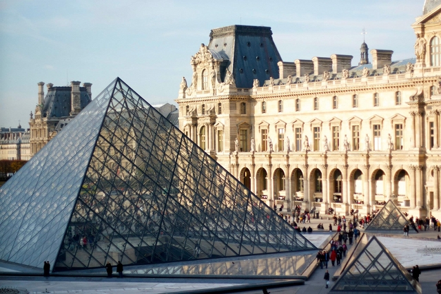 A Big Glass Pyramid Was Built Outside The Louvre Museum