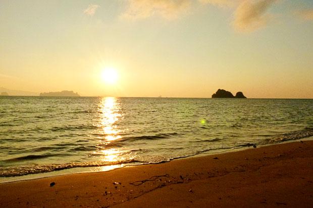 Sunrise on the beach, Koh Yao Noi