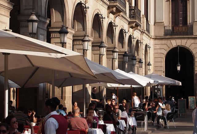 Restaurant, Royal Plaza next to Las Ramblas
