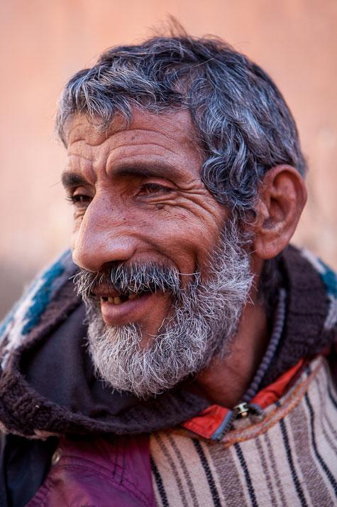 man with beard marrakech