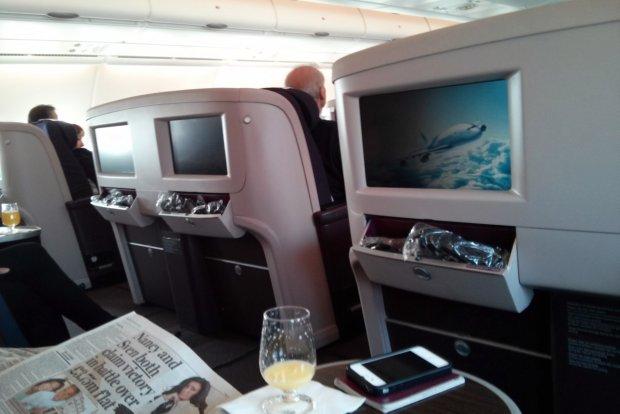 A380 Business Class Flight